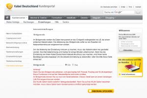 Kabel Deutschland Kundencenter Bridgemode